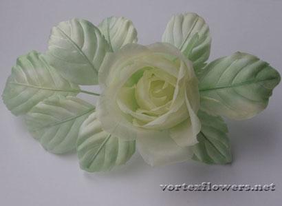 Роза из шёлка своими руками, выкройка бутонной розы