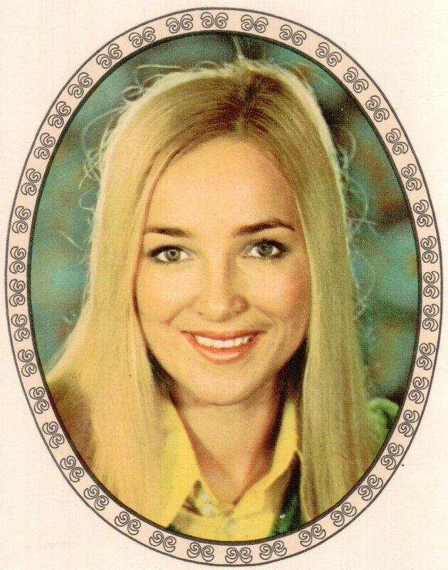 Переводная картинка из ГДР девушка 1980