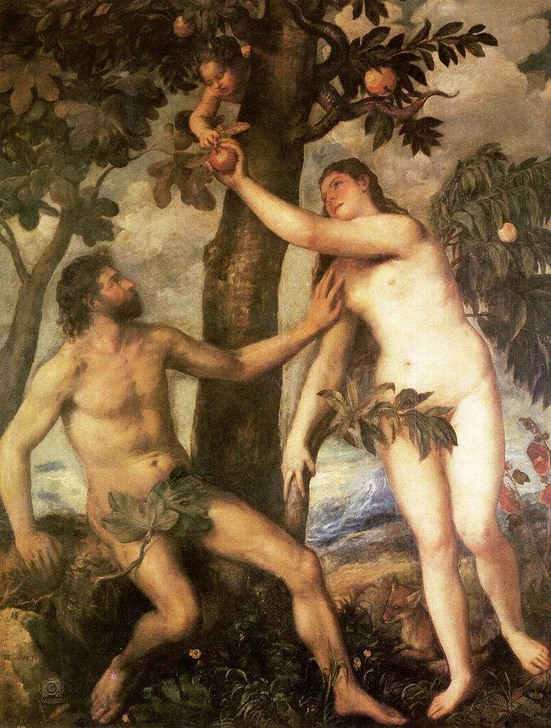 Тициан (Тициано Вечеллио): Titian The fall of man 1565 70