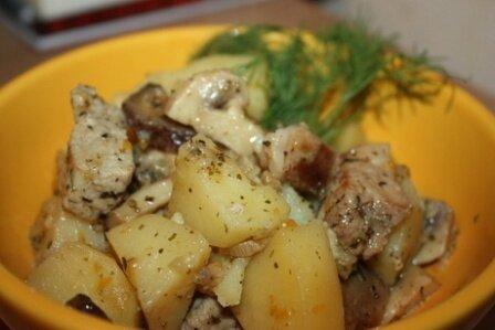 Как приготовить в мультиварке курицу с картошкой
