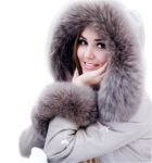 Портрет девушки зимой