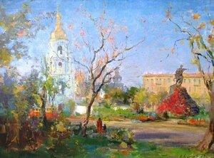 Шишко С.Ф. «Київ. Площа Богдана Хмельницького »(1954)