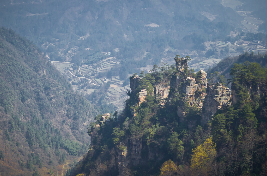 Фото 14. Пейзаж в природном парке Улинъюань (Чжанцзяцзе), куда мы приехали во время путешествия по Китаю.