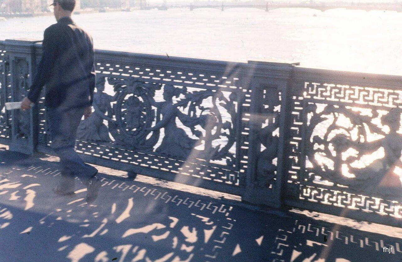 Bridge rail about 5 pm