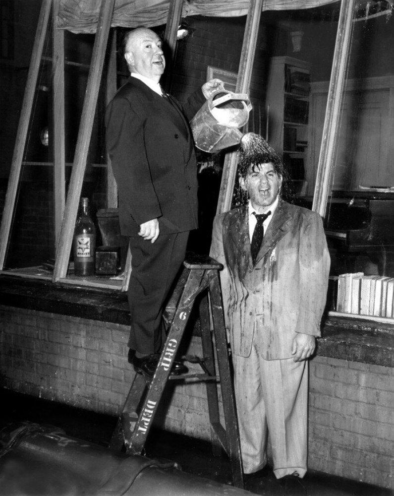 1954. На съемках фильма «Окно во двор»