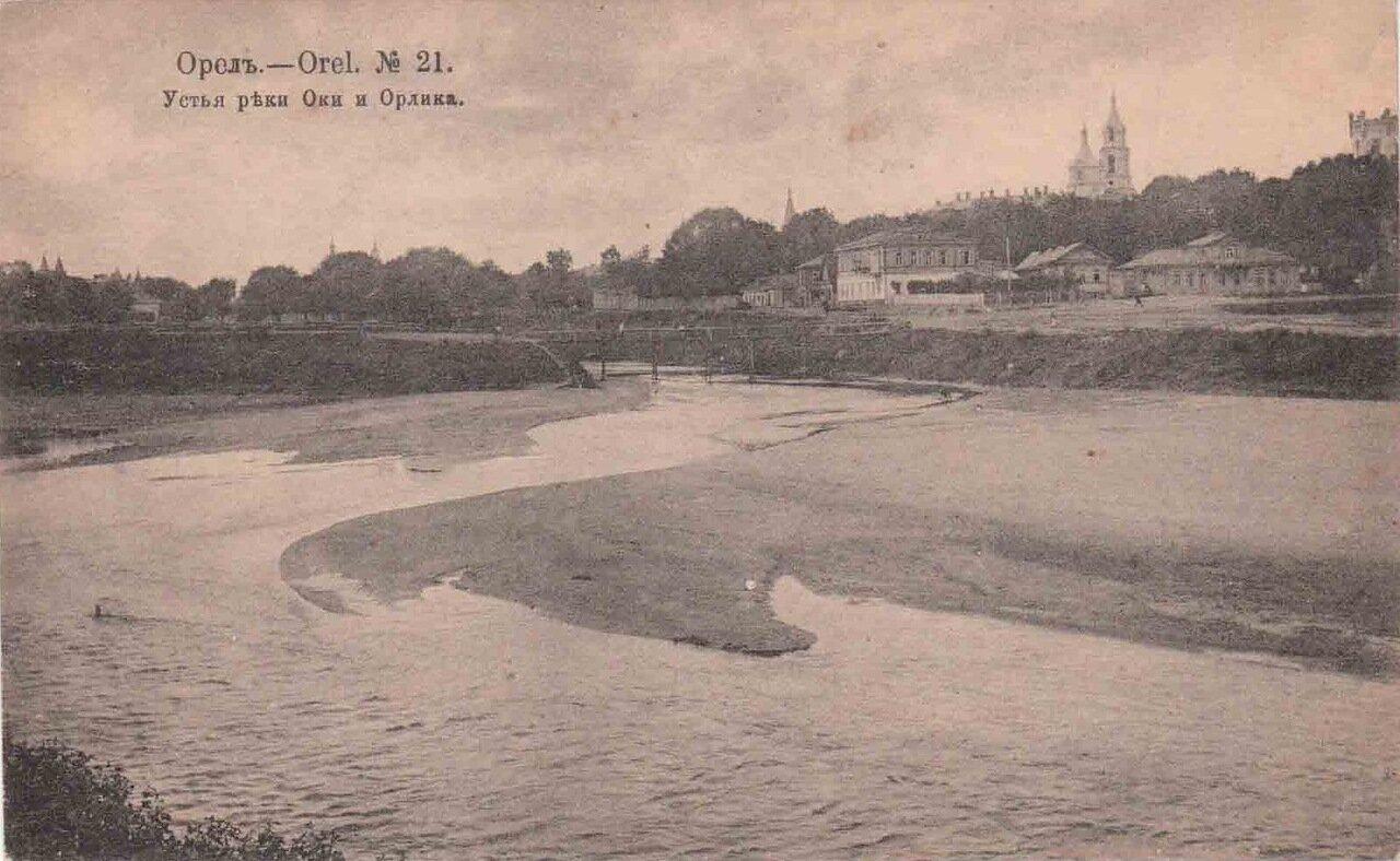 Устье реки Оки и Орлика