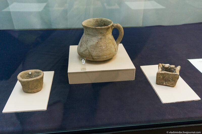 Кружка гончарная серолощеная с врезным орнаментом