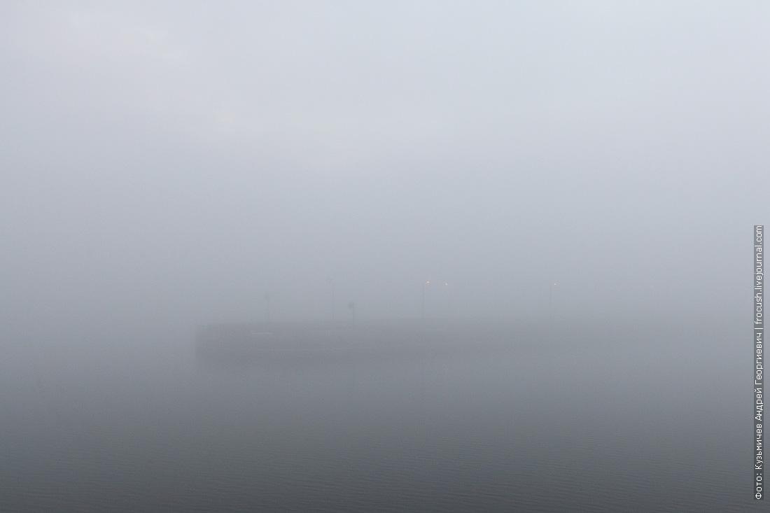 Вдруг в тумане показались какие-то огоньки