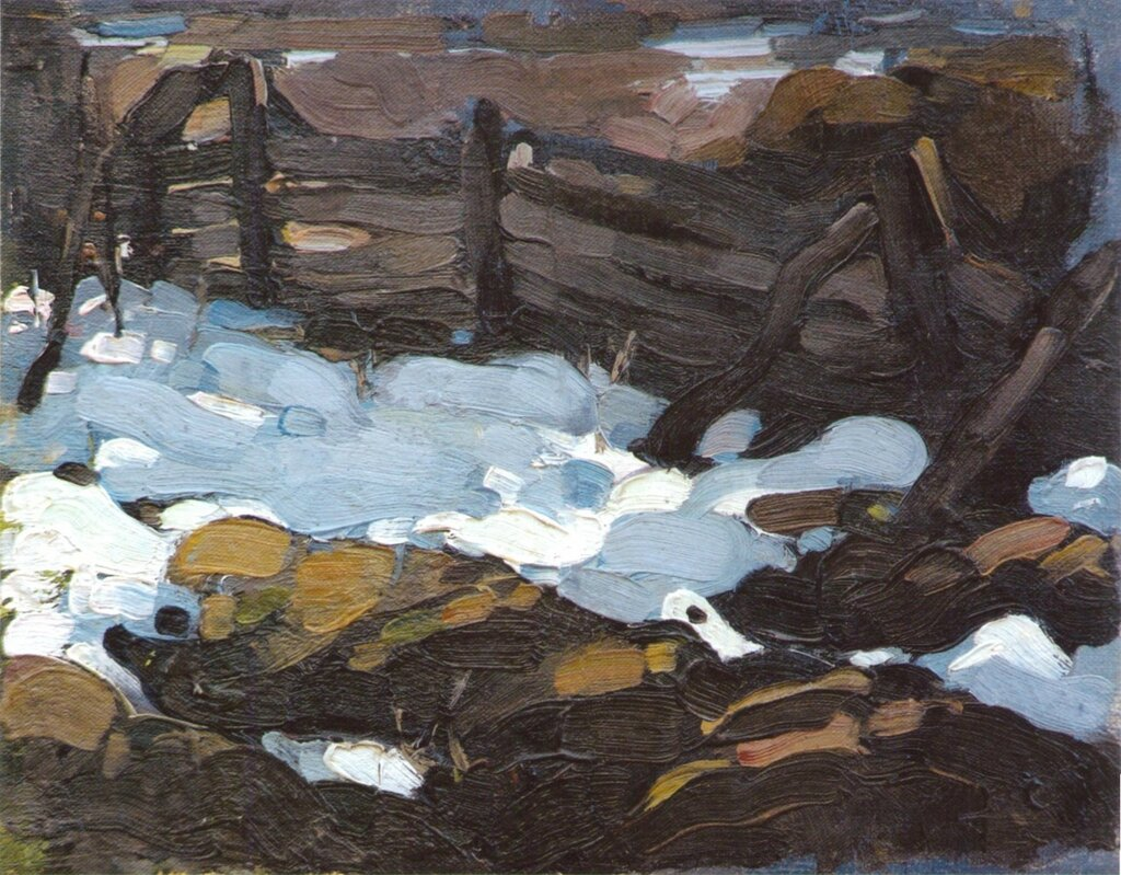 Зимний пейзаж (с плетнем) (1900-е).jpg