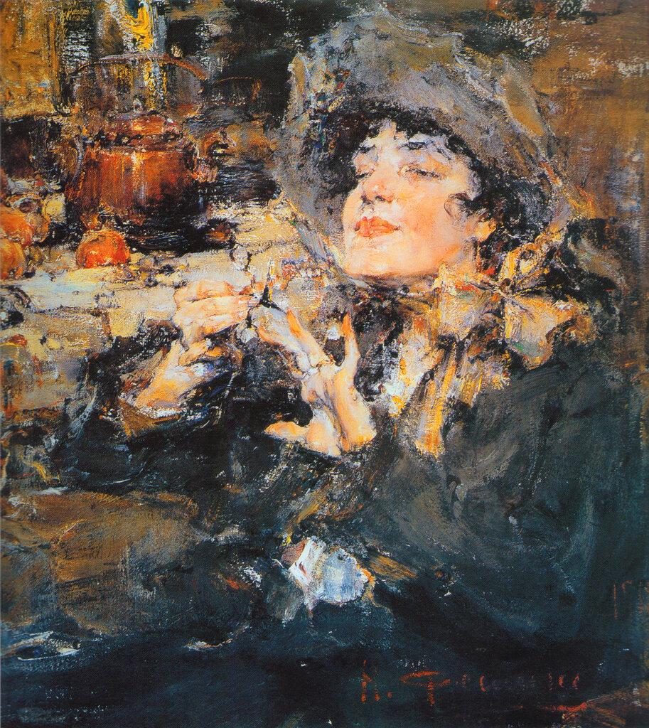 Дама за маникюром (Портрет m-lle Жирмонд) (1917).jpg