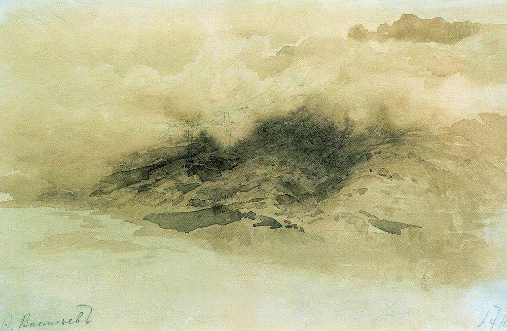 Горы в облаках. 1873.jpg