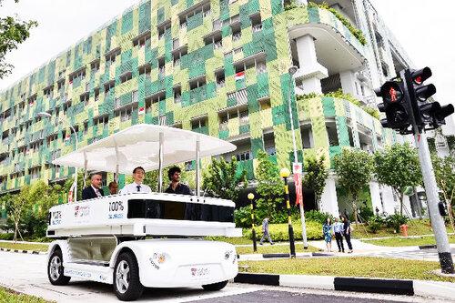 Электромобиль без водителя в Сингапуре