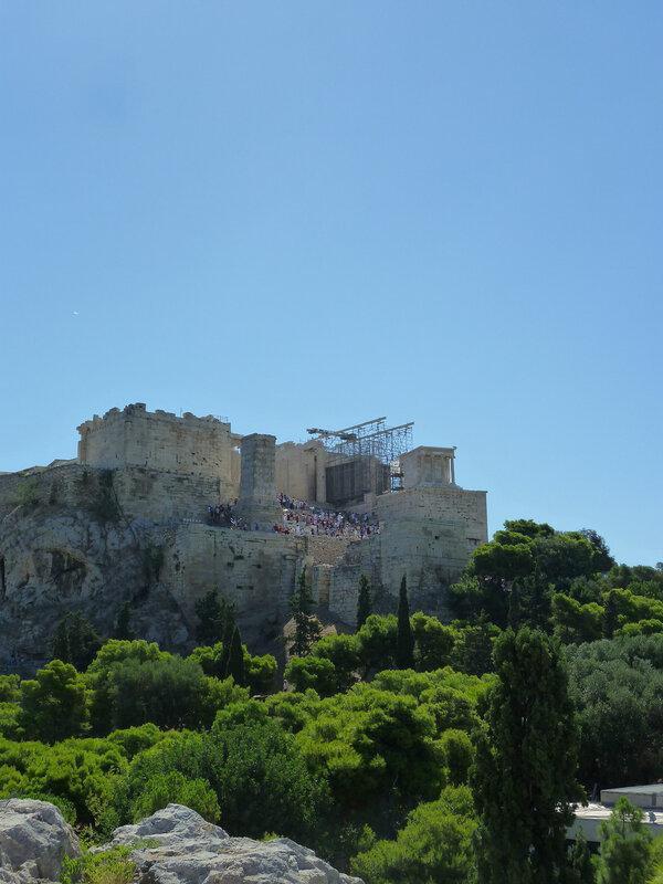 Вид на Акрополь с Ареопага