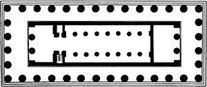 Храм Геры II в Пестуме (храм Посейдона), план
