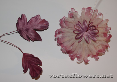 хризантема из ткани мастер-класс