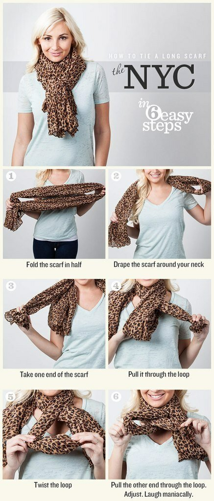 как завязать шарф