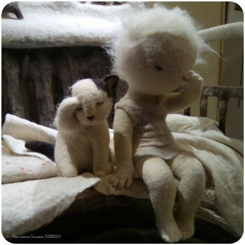 Ирина Андреева, Теплый день, выставка, войлок, куклы, куклы из войлока, куклы из шерсти