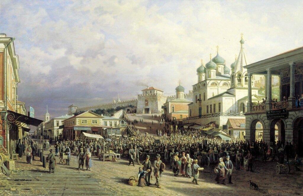 Рынок в Нижнем Новгороде. 1872. Холст, масло. 90х140 см.jpg