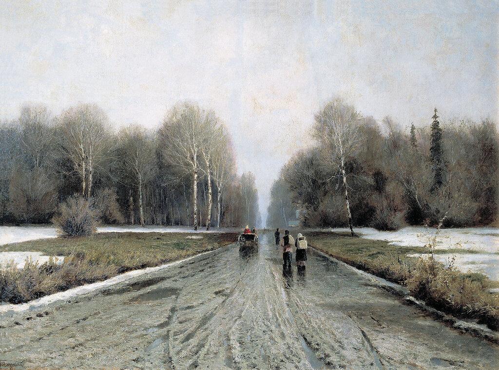 Ранняя весна. 1885. Холст, масло. 74х105 см.jpg