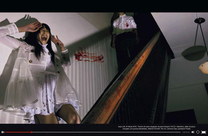 Фильм ужасов в апрельском Vogue Italia