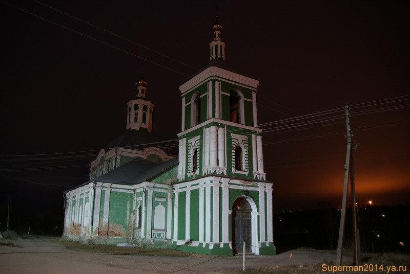 ночной Смоленск - церковь Воздвижения Честного Креста Господня