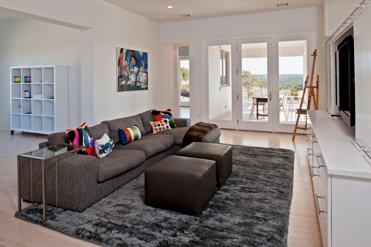 Cornerstone Architects, Spanish Oaks Residence, частный дом в Техасе, частный дом в Остине, красивые дома в Америке, бассейн с фонтаном, картины в интерьере