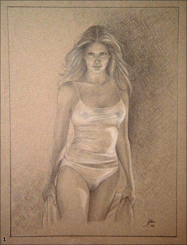 красивые рисунки карандашом красивых голых девушек фото