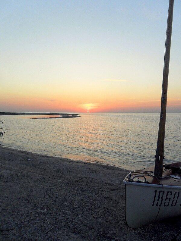 В походе, Азовское побережье, август