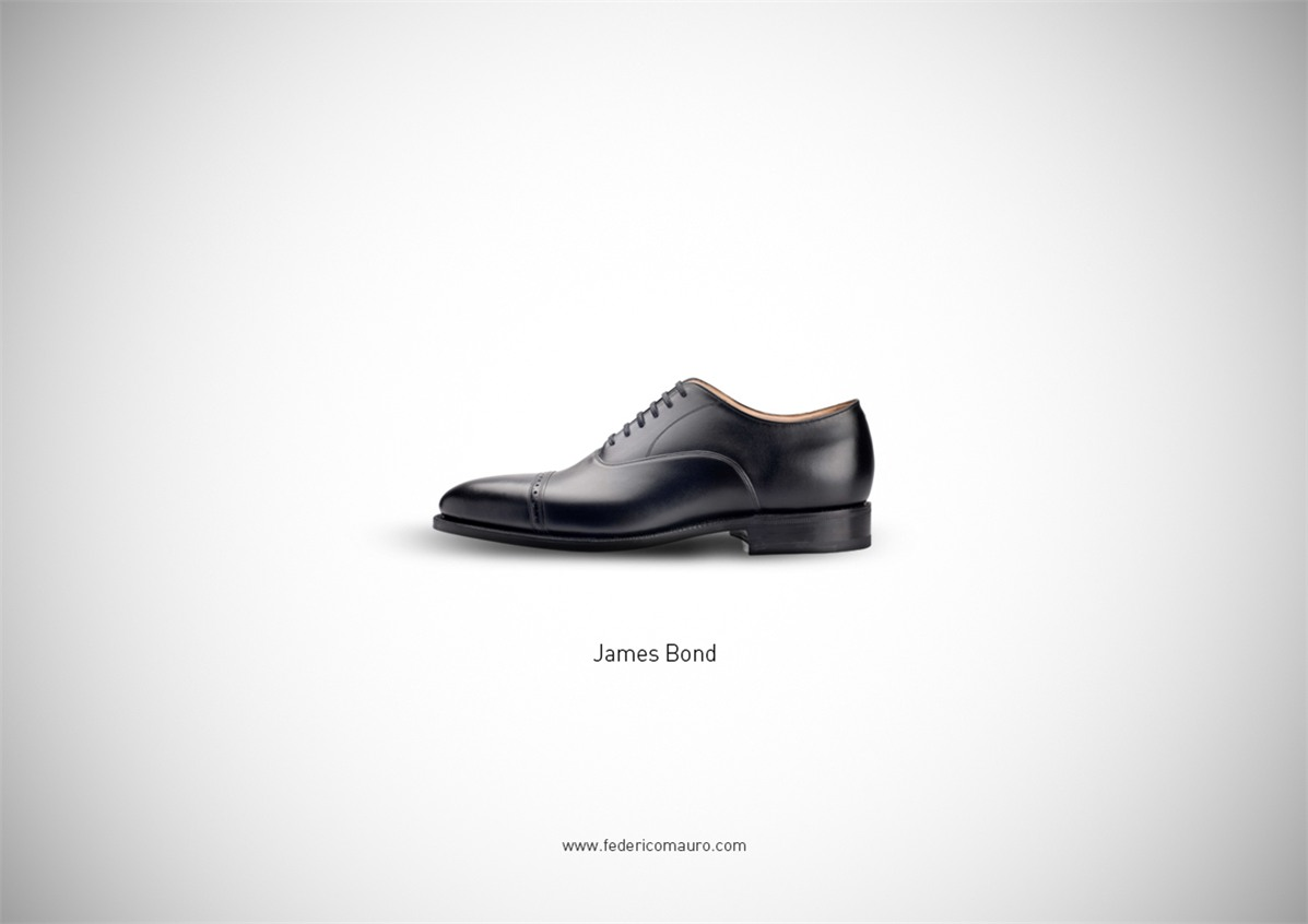 Знаменитая обувь культовых персонажей / Famous Shoes by Federico Mauro - James Bond 007