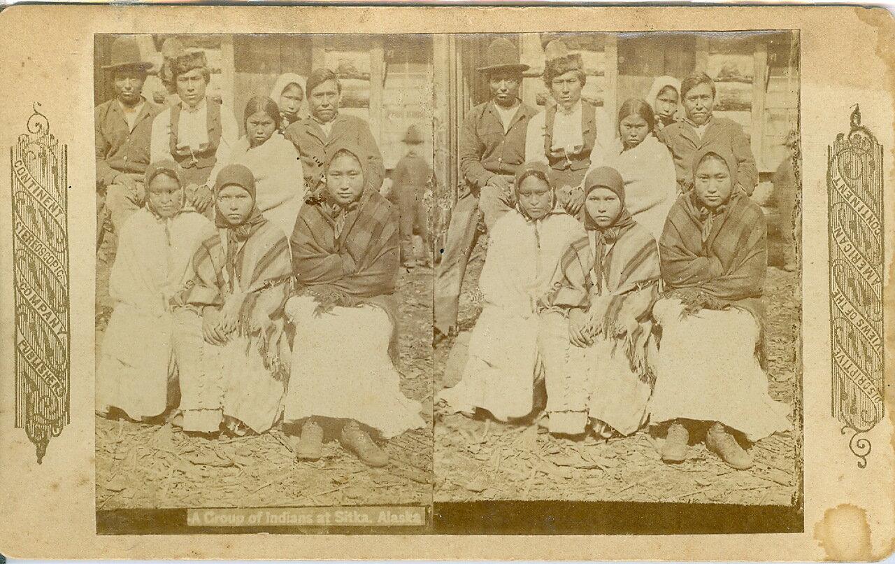 1878. Группа индейцев в Ситке