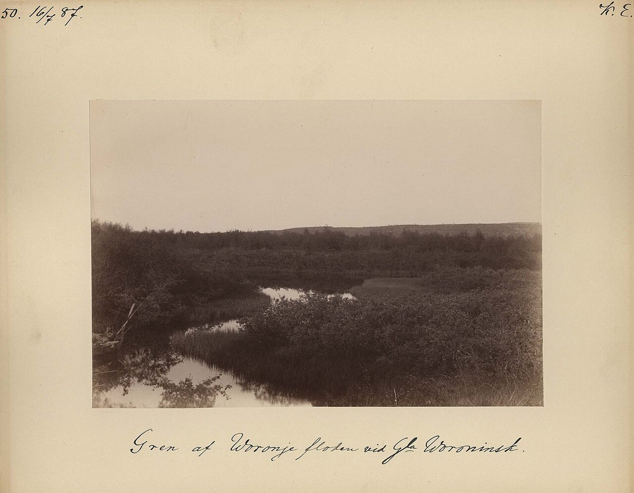 16.7.1887. Озеро Гаврилова, недалеко от притока реки Вороньей близ Воронинска