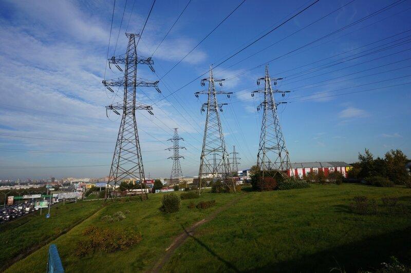 МКАД - индустриальный пейзаж