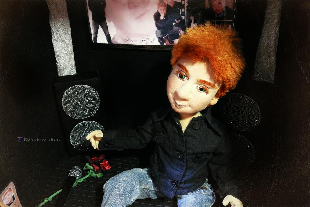 Портретная кукла по фото певец и артист Антон Юрьев