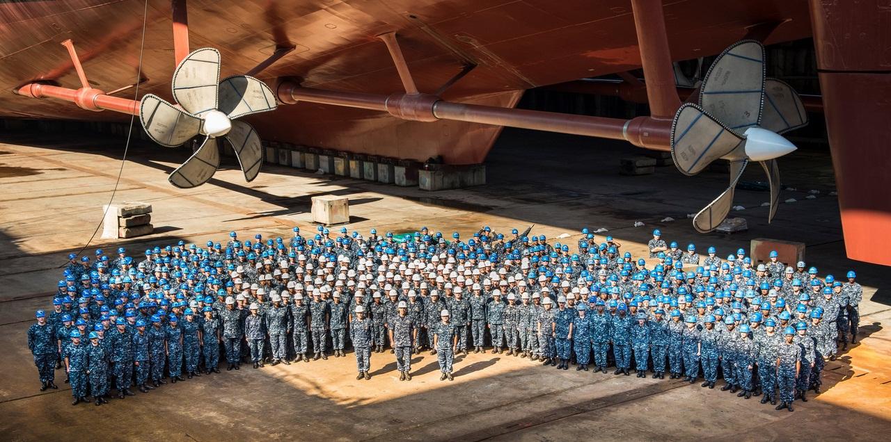 Как строят авианосец Gerald R. Ford