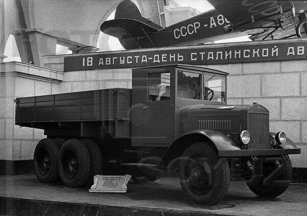 Грузовой 8-тонный автомобиль ЯГ-10, павильон Механизация и электрификация сельского хозяйства СССР, 1939 г.