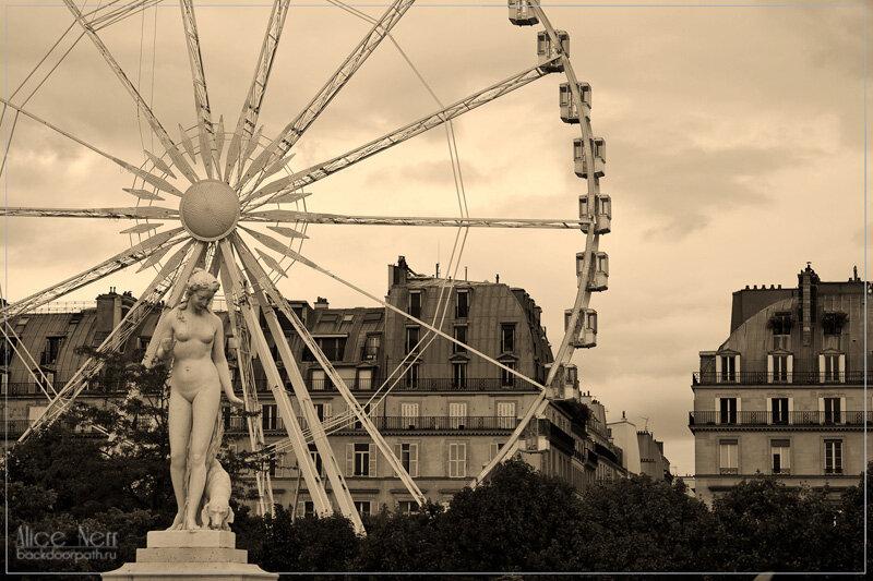 Колесо обозрения недалеко от Лувра