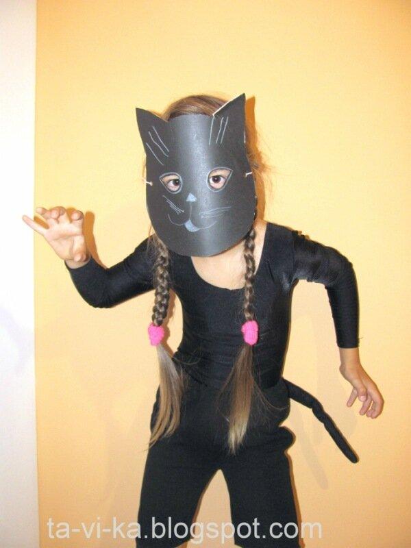 Детский костюм на Хэллоуин своими руками Черный кот
