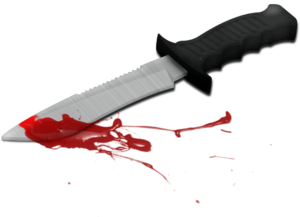 кровь на ноже