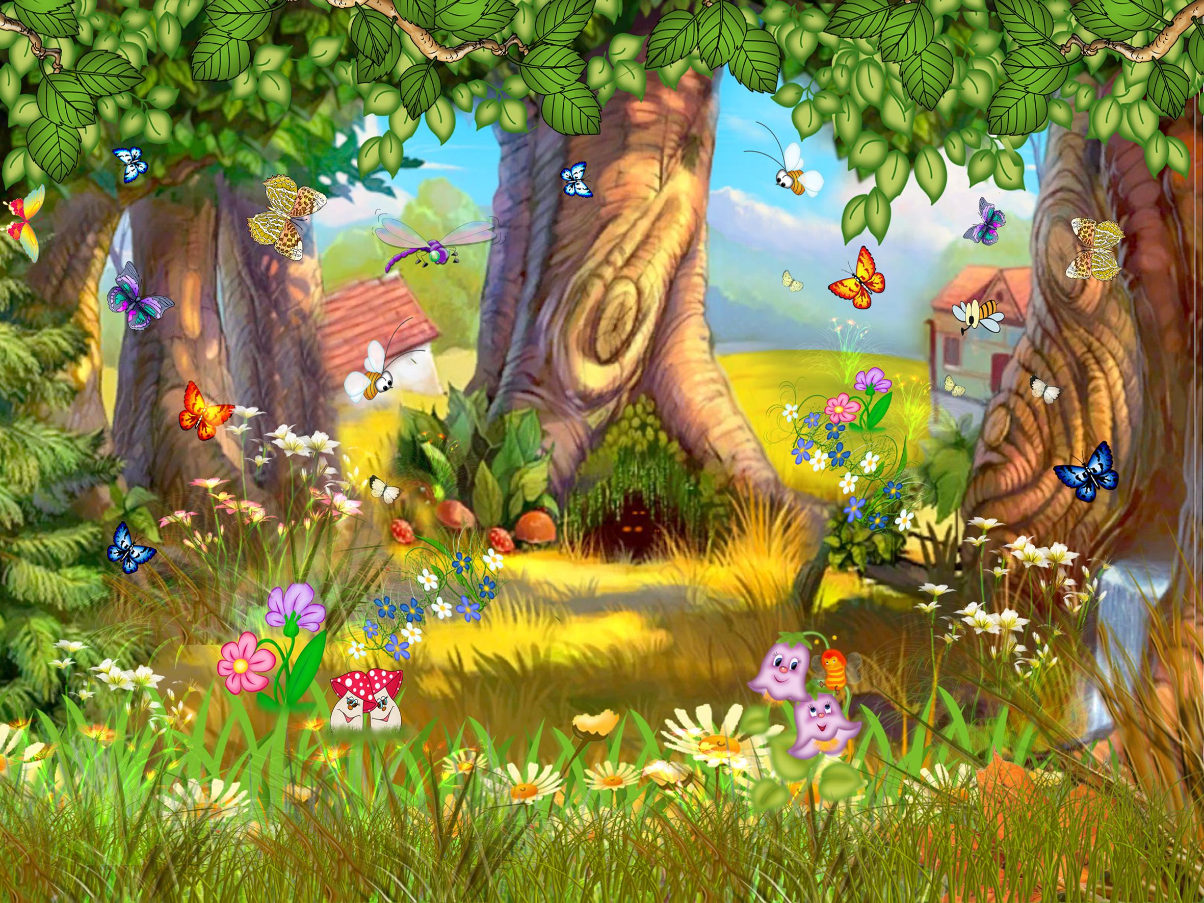 Детские картинки анимационные про природу со звуками