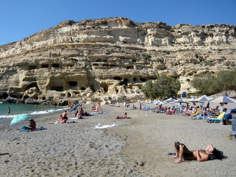 Матала. Пещеры хиппи и пляж