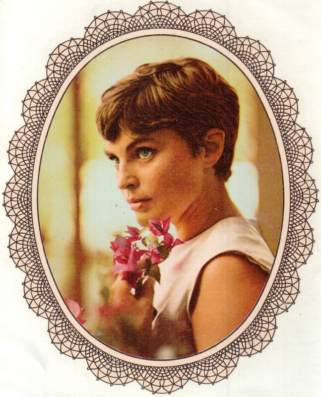 Переводная картинка из ГДР девушка Christel Bodenstein 1973