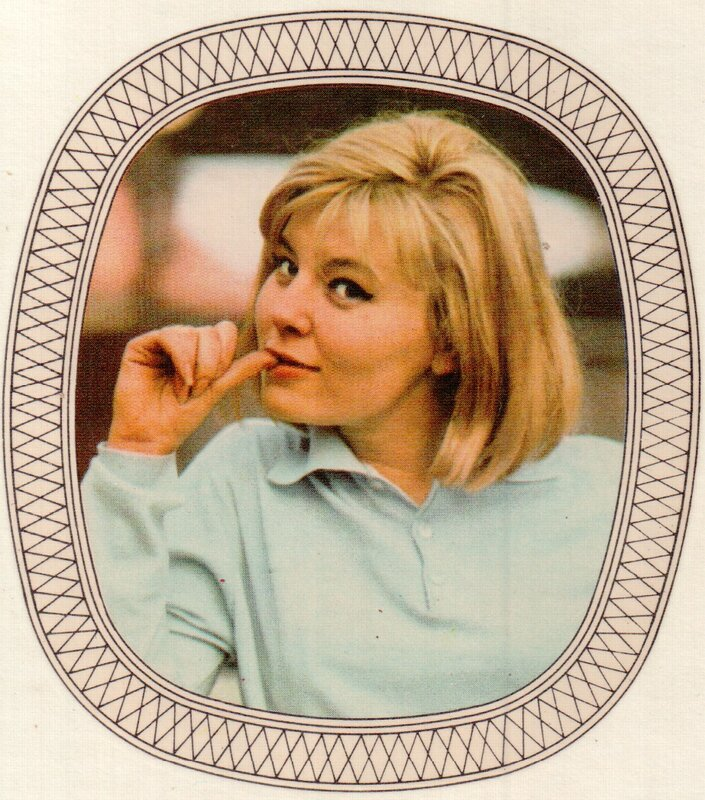 Переводная картинка из ГДР девушка Karla Chadimova 1974