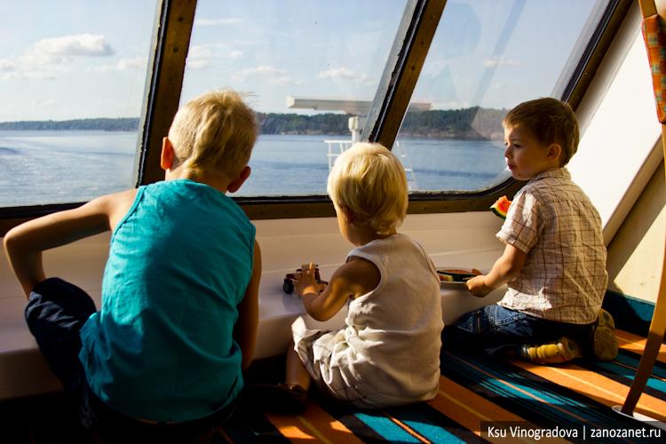 Паром Viking Line. Хельсинки - Стокгольм.