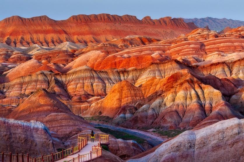 Рай для фотографа-колориста… Цветные скалы Чжанъе Данксиа