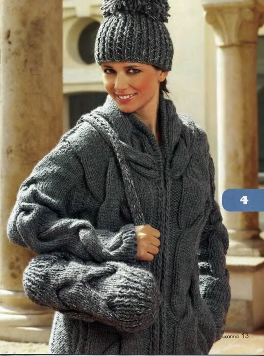 Вязание пальто и шапок