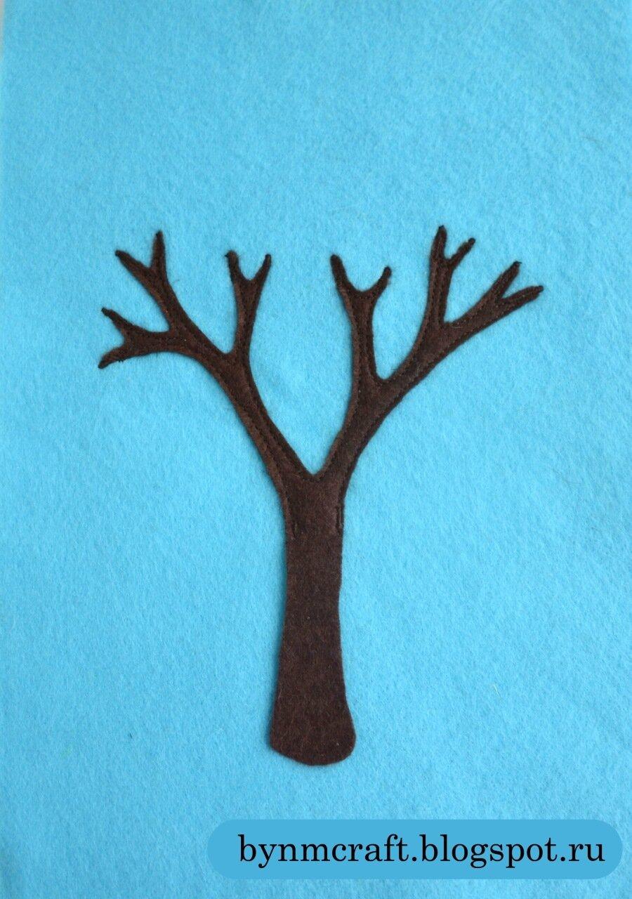 Деревья из ткани как сделать 999