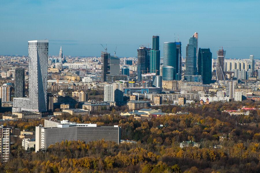 Вид со здания МГУ