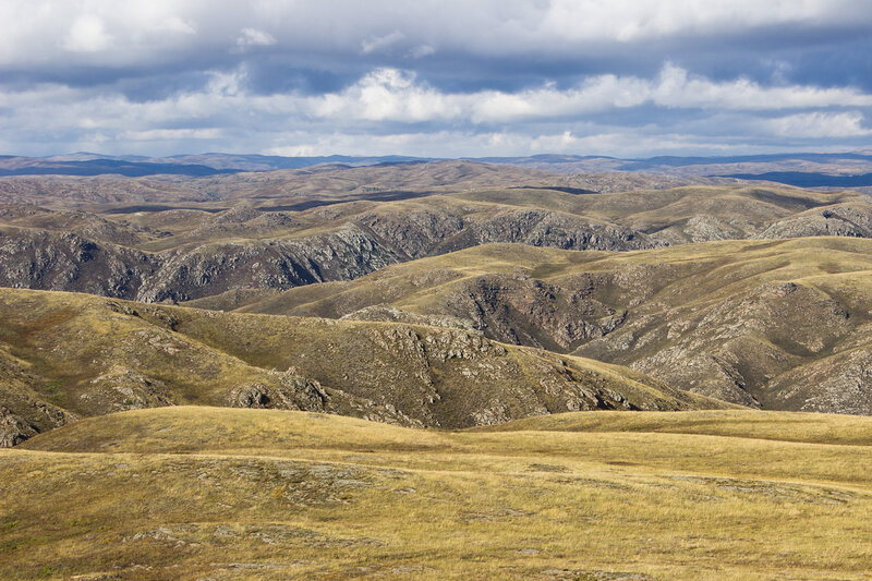 вид с перевала Есекер, горы Шанды