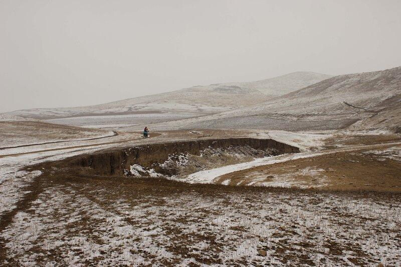 весенний пейзаж во внутренней монголии, китай