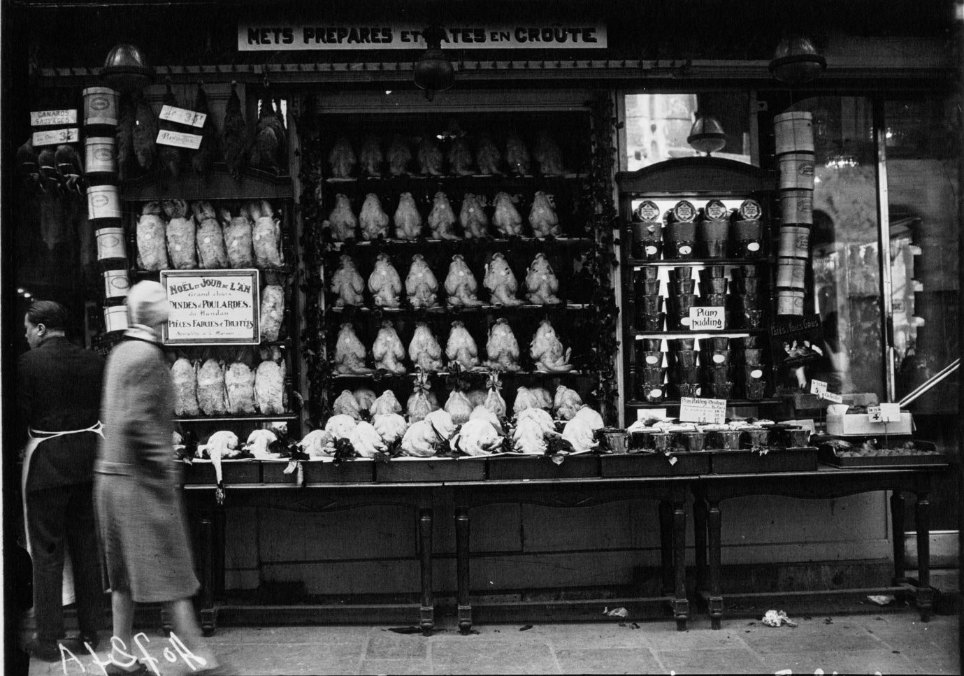 1926. Новогодняя торговля птицей в Фошоне
